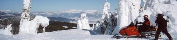 Snowmobling
